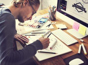 designer doing layout