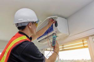 Repairing a broken air conditioner