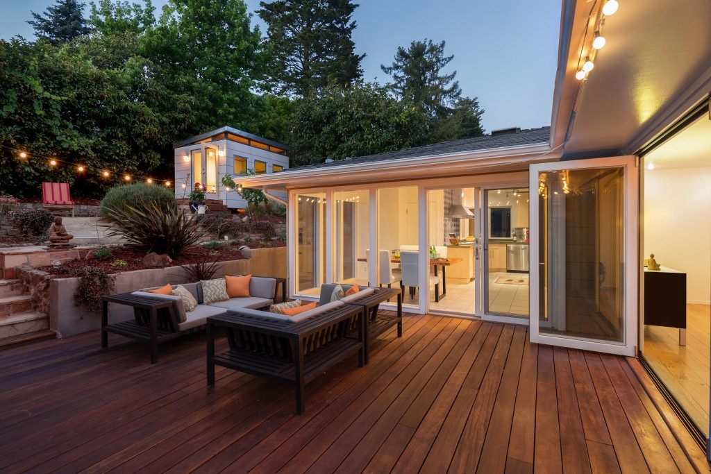 Patio with wooden floors