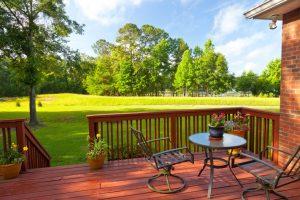 outdoor furniture in backyard