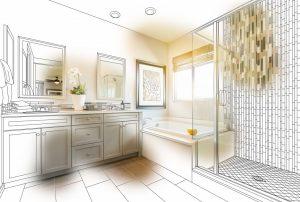 Bathroom interior planning