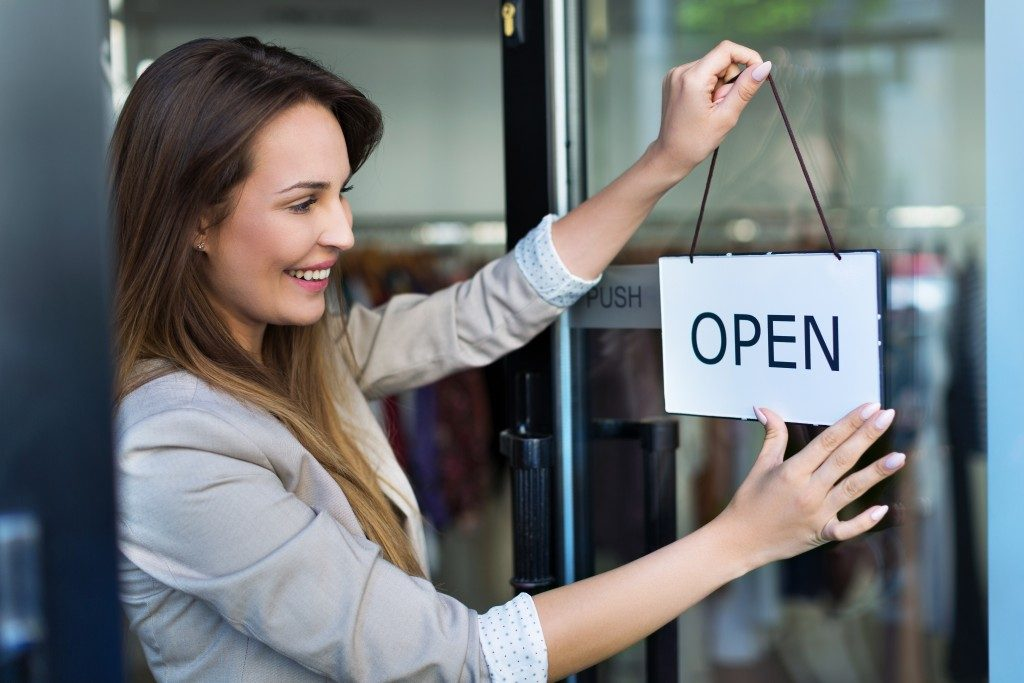 opening the business