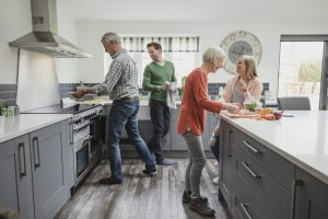 people in the kitchen