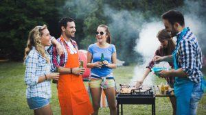 friends grilling bbq