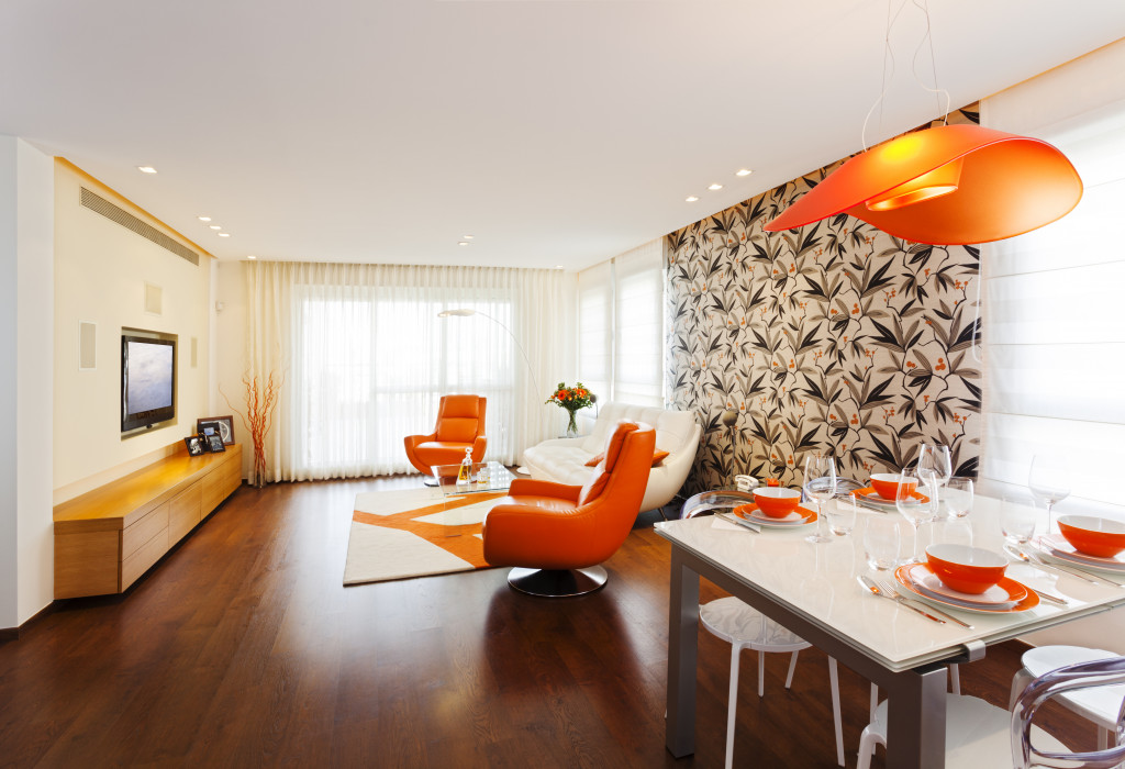 home orange interior