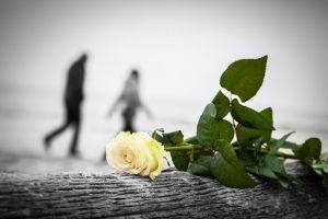 grieving concept