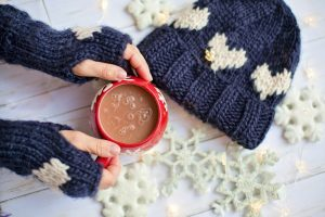 hot choco and winter clothes