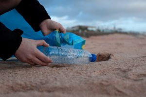 plastic on land