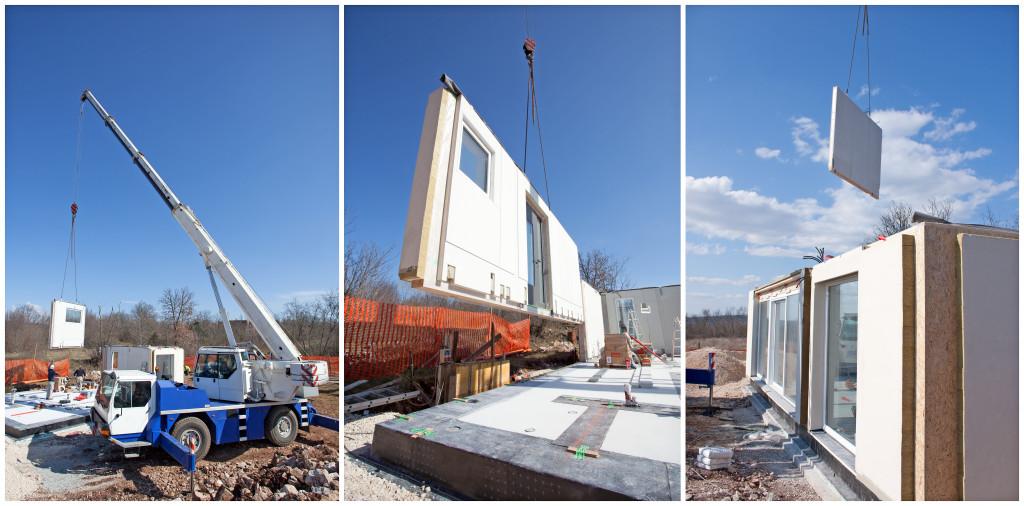 modular home under construction